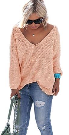 Mikos Schöner Sommer Sexy Pullover mit V-Ausschnitt Pulli tollen Farben S M  ( 9d1a8bc438