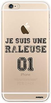 Evetane Coque Compatible avec iPhone 6/6S Transparente Rigide Solide Râleuse Ecriture Motif Tendance