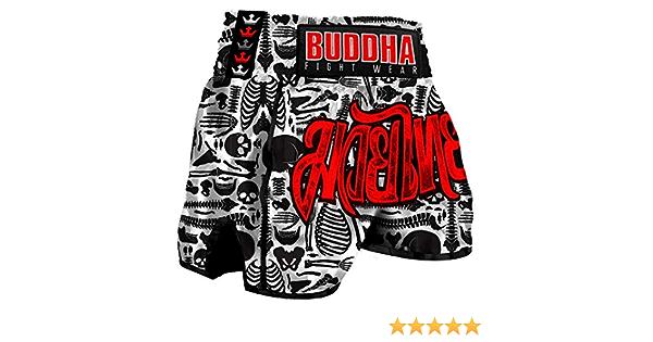Pantal/ón Muay Thai Kick Boxing Buddha Retro Demon