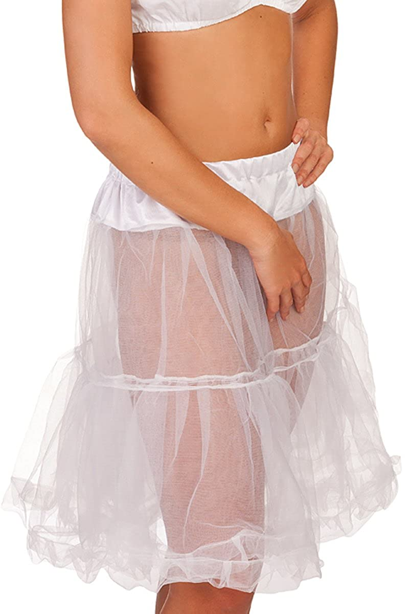 wei/ß MJ 1 L/änge 65 cm schwarz MarJo Leder /& Tracht Trachten Petticoat