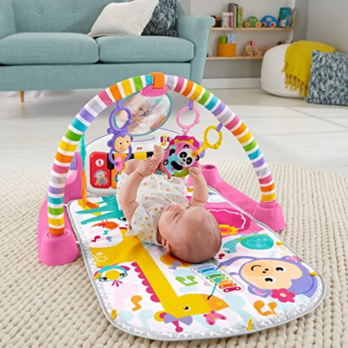 61Hi4YLVN7L - Fisher-Price Deluxe Kick 'n Play Piano Gym, Pink