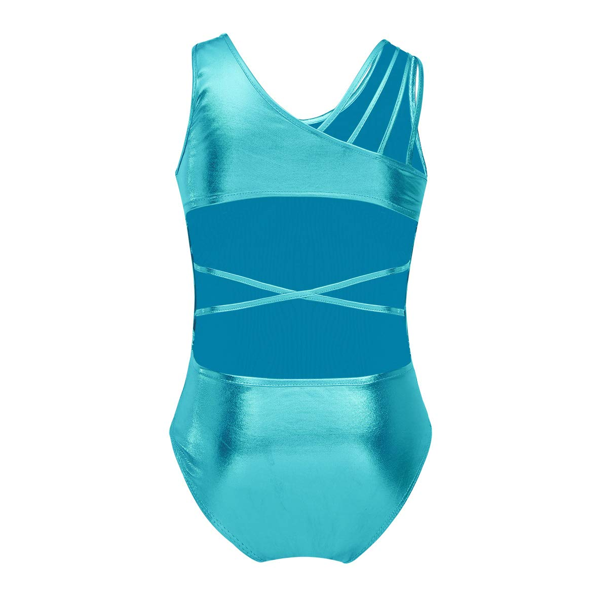 TiaoBug SWIMWEAR ガールズ B07GFHLB5Y Lake Blue(open Back With Straps) 43654
