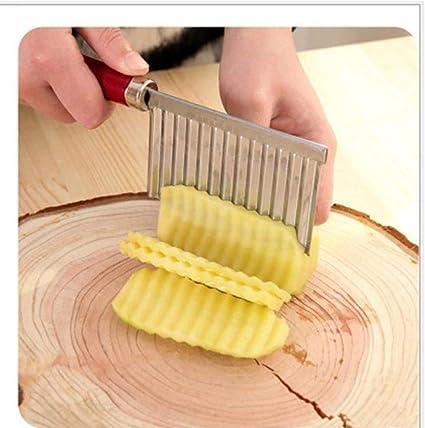 PiniceCore Onduleux de Pommes de Terre ac/ér/ées Gadget de Cuisine en Acier Inoxydable Fruits de l/égumes Outil de Coupe Accessoires de Cuisine Frites fran/çaise Machine