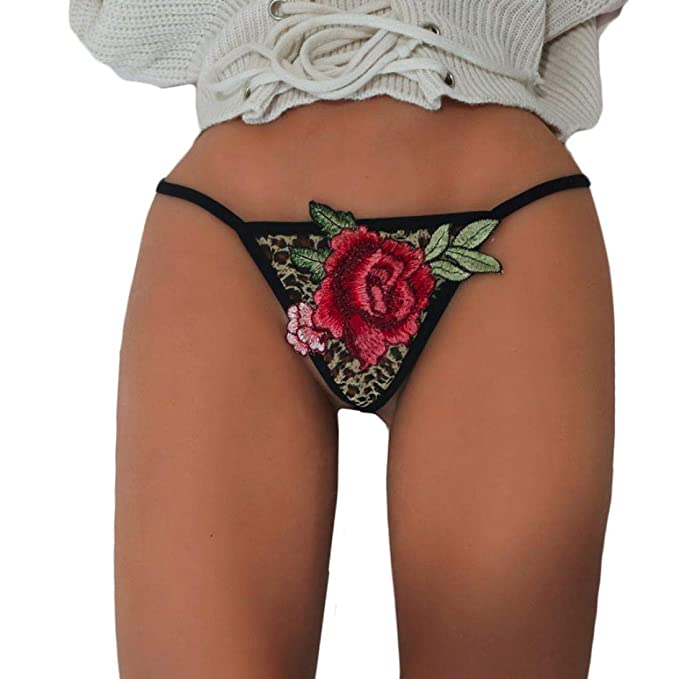 587b23d28b3 Mjjsk Fashion Women Plus Size Mesh Lace Underpant G-String Floral Sexy  T-Back Appliques Embroidered Lingerie  Amazon.co.uk  Clothing