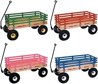 product image for Saving Shepherd Heavy Duty Pull Wagon with Easy Roll Air Tires (Pink)
