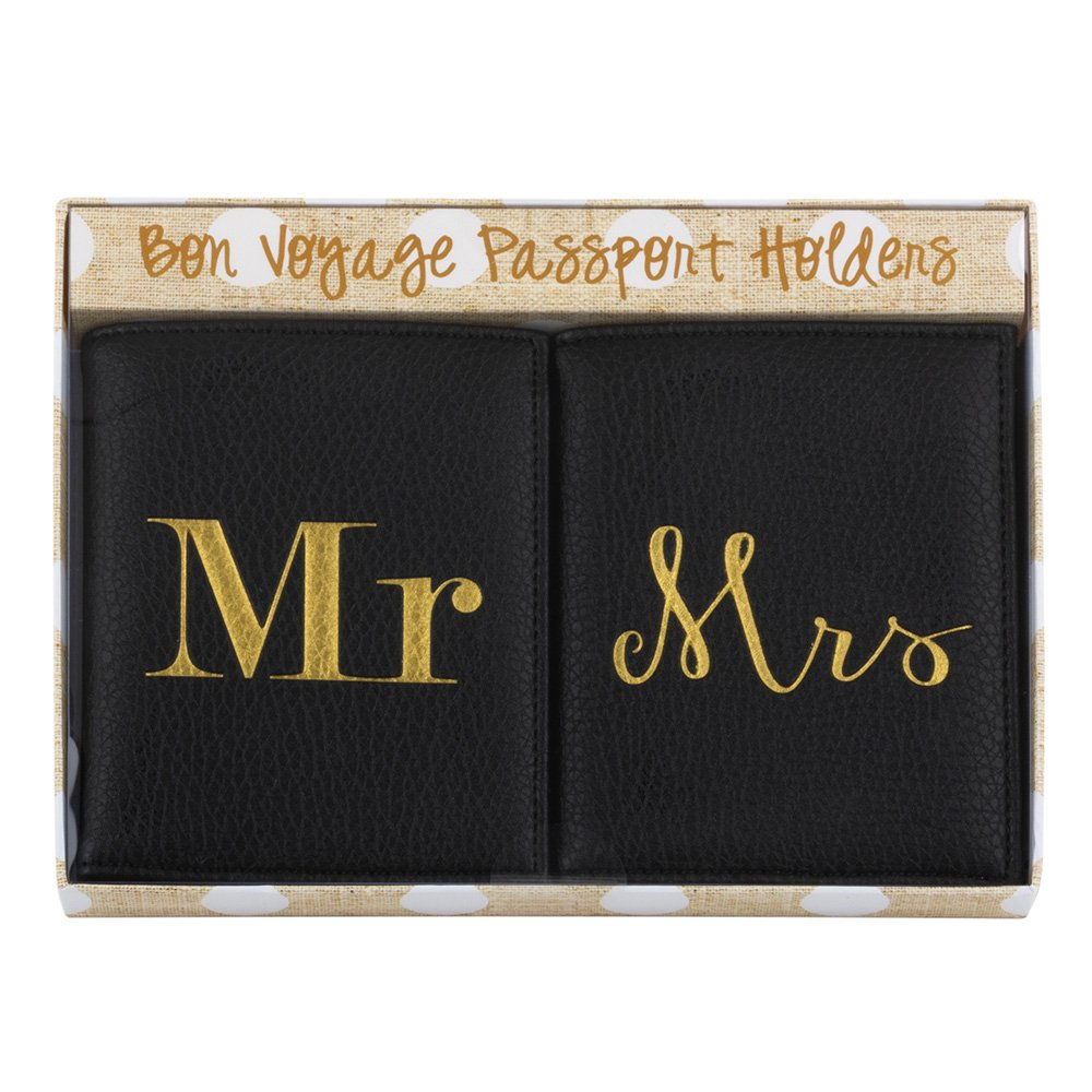 Mainstreet Collection Mr & Mrs Black Passport Holder Set