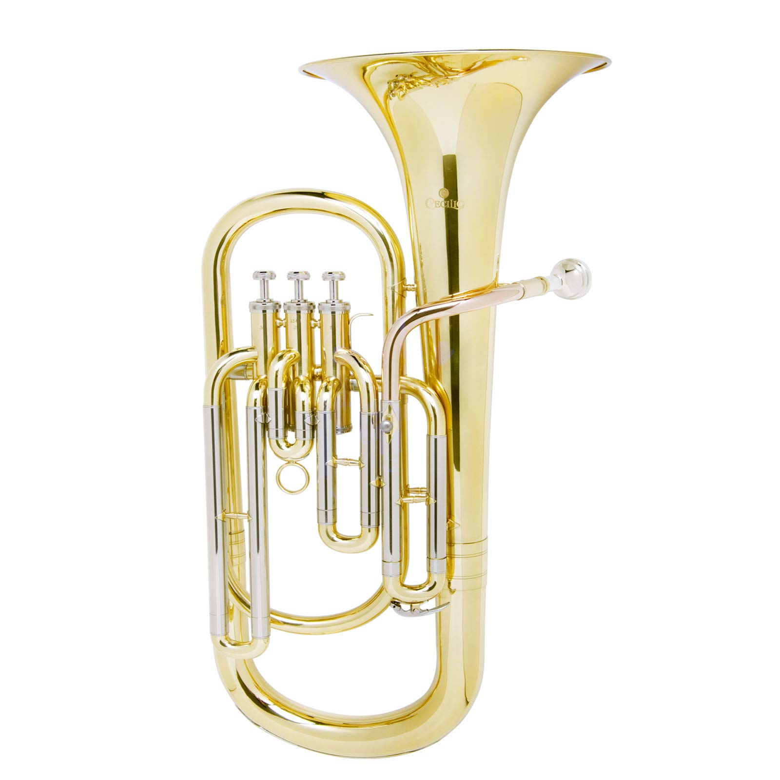 Mendini B Flat Baritone with Stainless Steel Pistons (Intermediate) by Mendini by Cecilio (Image #3)