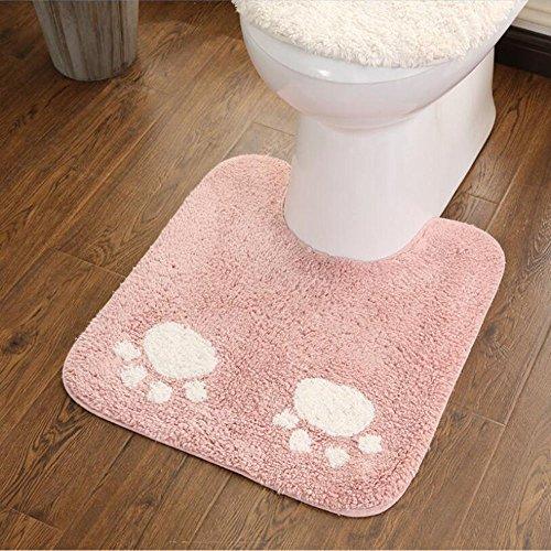 ELEOPTION Bath Mat Sets for Bathroom, 2 Piece Non Slip Bathroom Rug Set and Contour Mat Non-Slip Pedestal Super Absorbent Machine Wash (Pink) by ele ELEOPTION (Image #6)