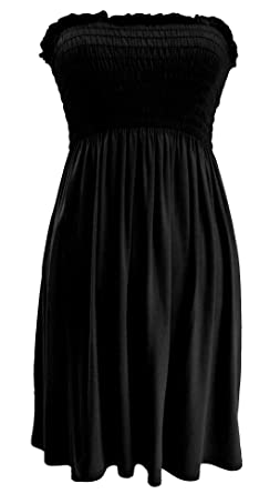 28b871ddb0 RIDDLED WITH STYLE Womens Plain Sheering Top#(Black Plain Sleeveless  Strapless Bandeau Boobtube Sheering