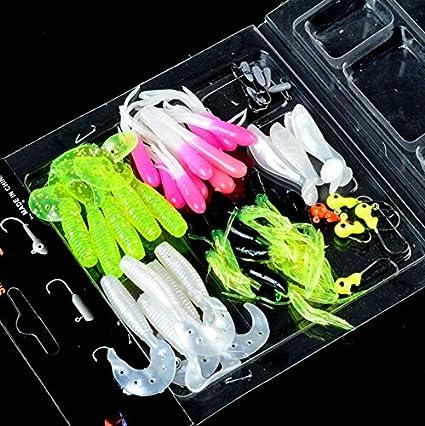 Details about  /35pcs//set Soft Silicone Fishing Lures Bass CrankBait Crank Bait Tackle