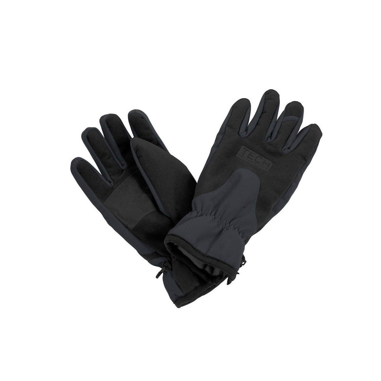 Result TECH Performance Sport Softshell Windproof Water Repellent Gloves (L) (Black/Grey)