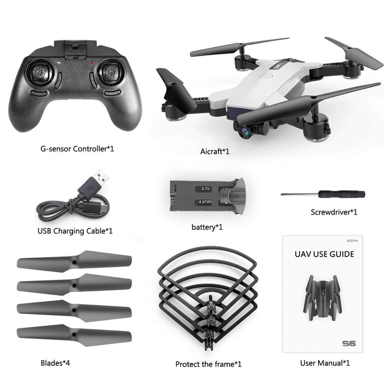Jasnyfall S6 720P WiFi Kamera Quadcopter Höhe Halten Fernbedienung Quadcopter Drone Weiß