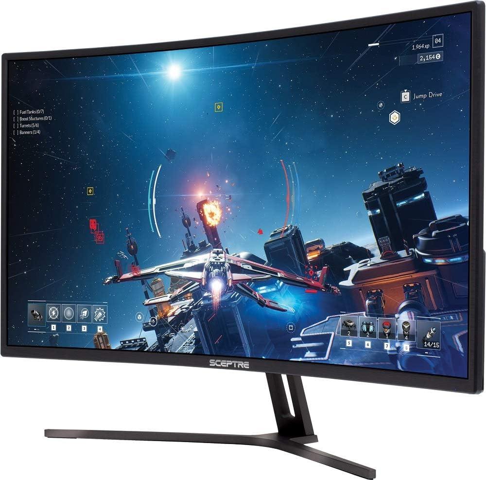 Sceptre C325B-185RD Curved 32-inch Gaming Monitor up to 185Hz 165Hz 144Hz 1920x1080 AMD FreeSync HDMI DisplayPort Build-in Speakers Machine Black 2020