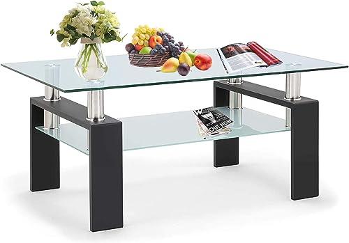 2-Tier Glass Coffee Table