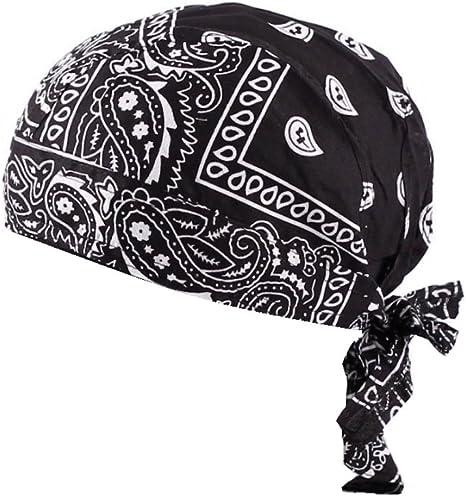Cool Bandana Piraten Kopftücher Piratentuch Kopftuch für Radfahren Schwarz