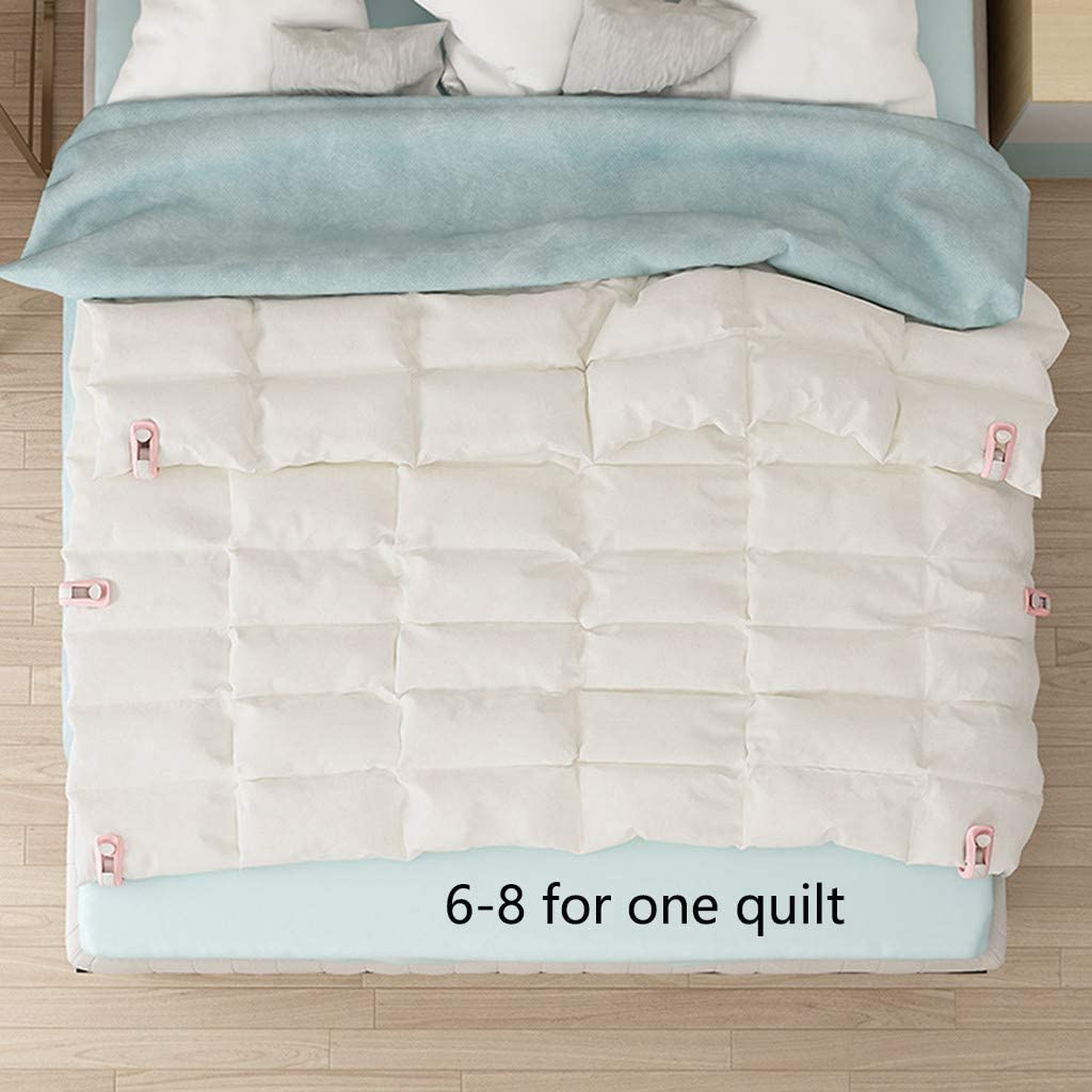 99native@ Duvet Cover Clips,High Elasticity Duvet Clips Quilt Holder Anti-run Kick Buckle Safety Needle-free Quilt Cover Quilt Single Clip Household Non-slip Device 1pcs Blue