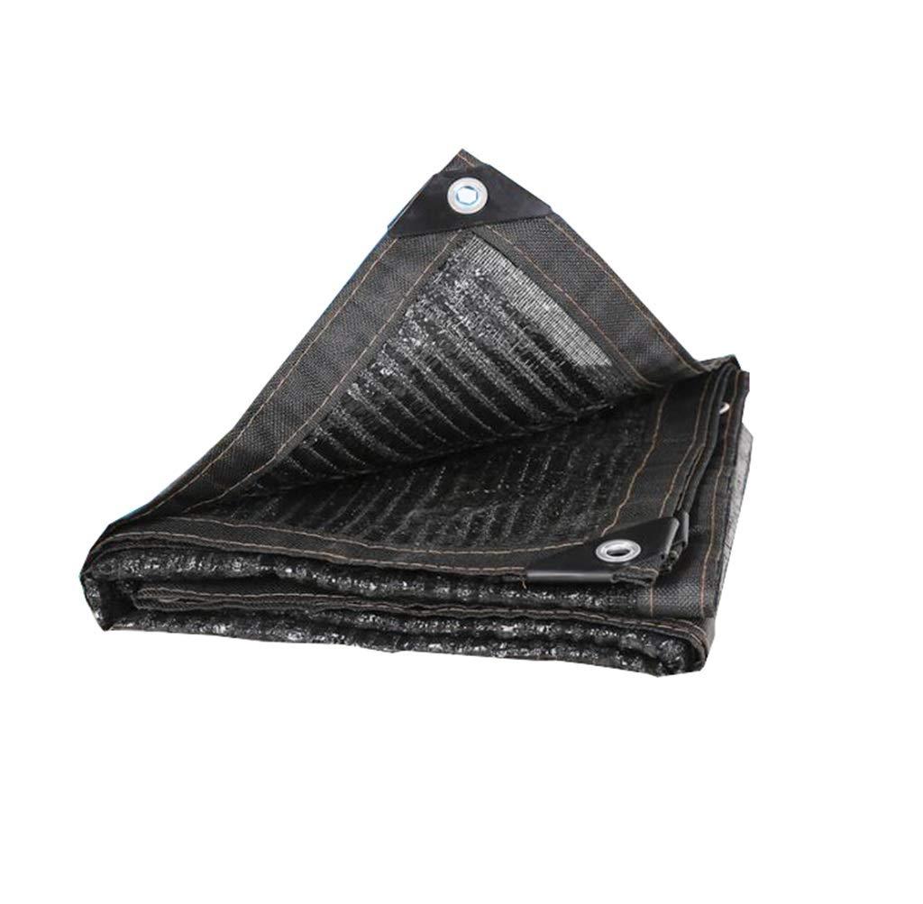 Hty Zyb Flache Nadelverschlüsselung Sonnenschutznetz, Dickes Sonnenschutznetz schwarz Shade Net Insulation Shade Net Edge Punch (größe   4m5m)