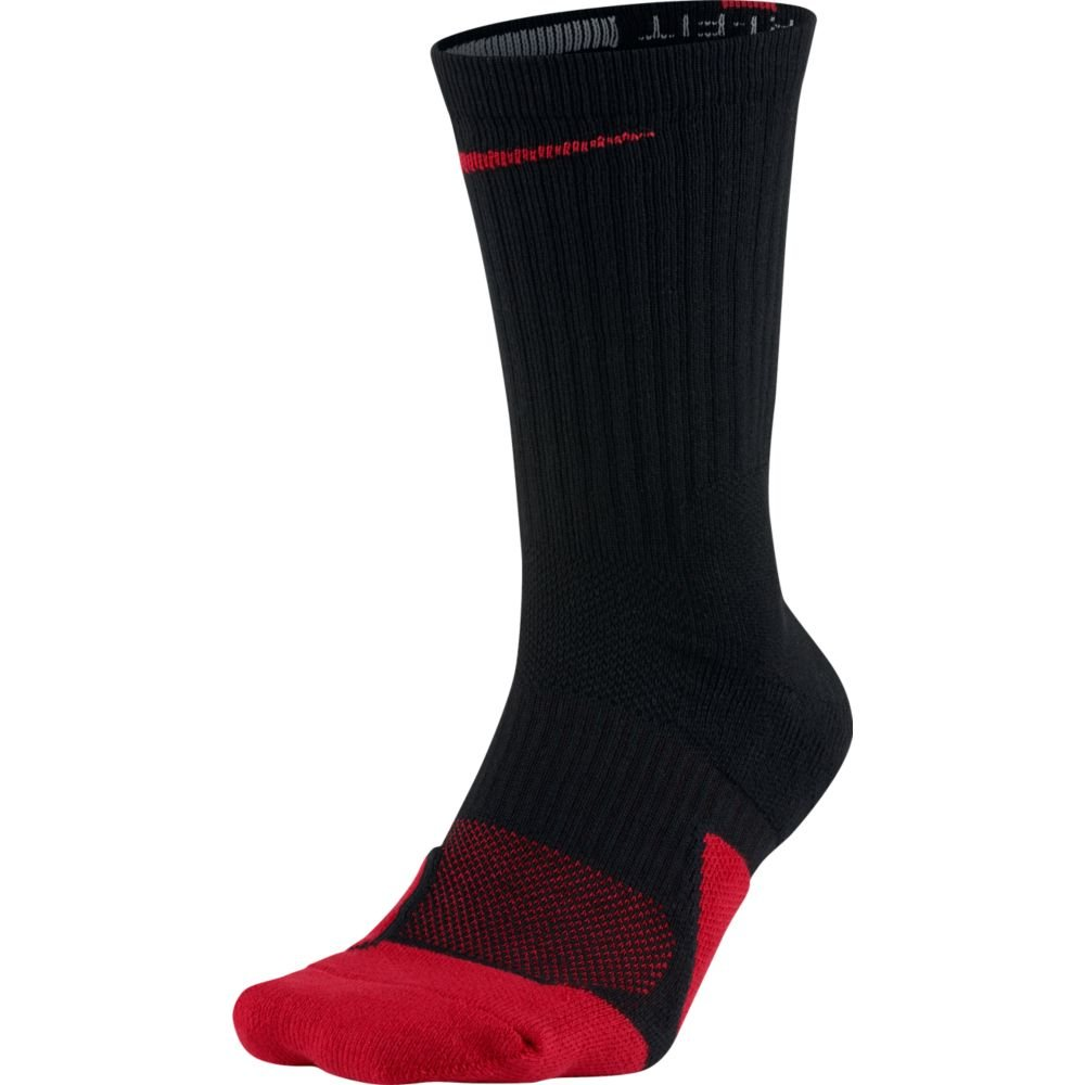 Nike Elite 1.5 Crew Basketball Sock Black/University Red Size Medium by Nike