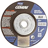 Norton Gemini Aluminium Depressed Center Abrasive Wheel, Type 27, Aluminium Oxide, 5/8