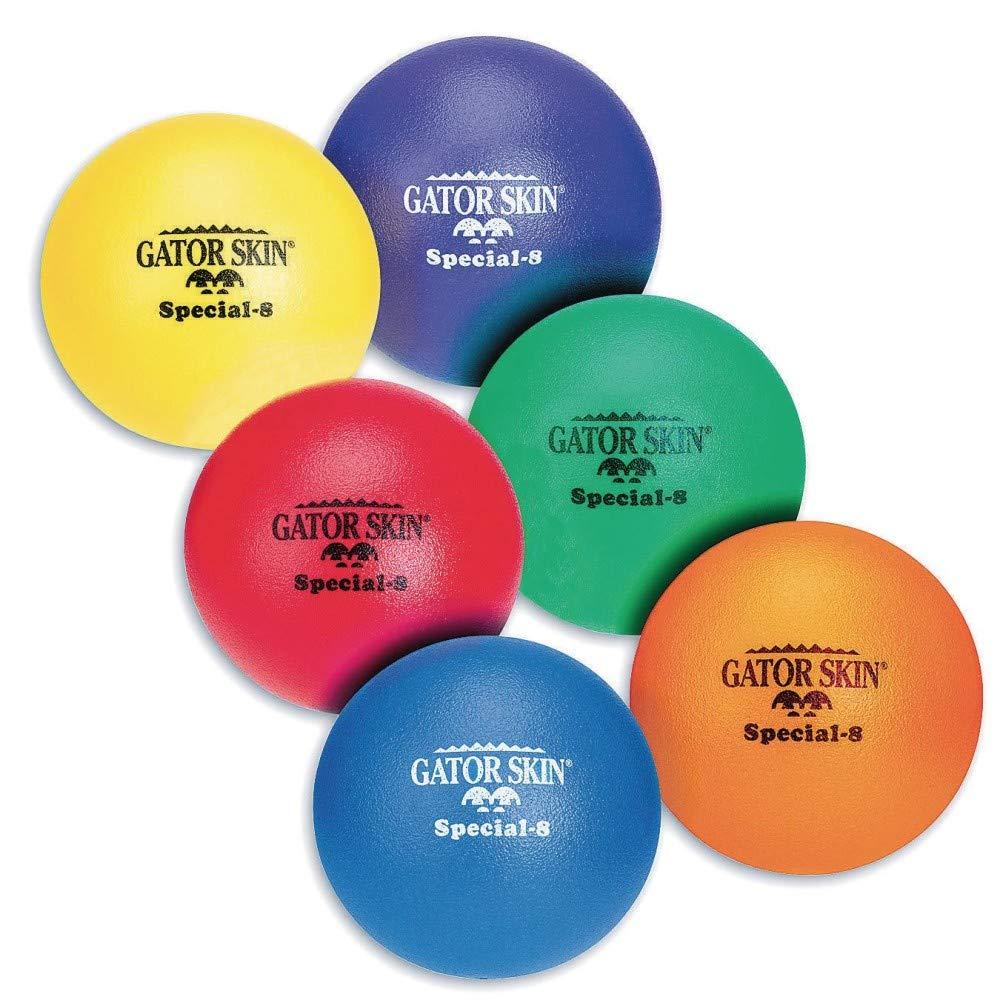 S&S Worldwide UA014-6C 8'' Gator Skin Special Foam Balls (Pack of 6)