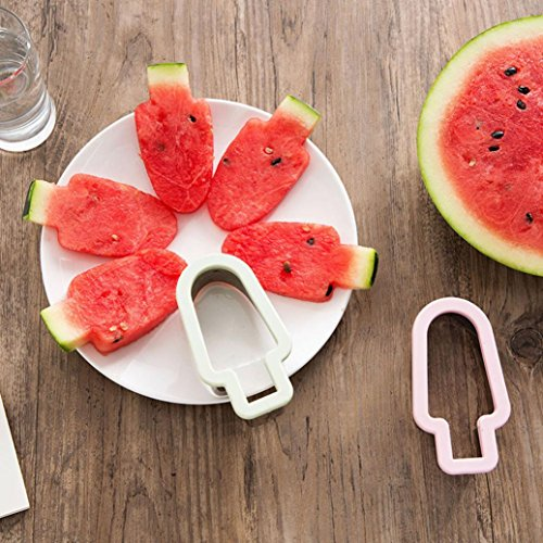Price comparison product image Watermelon Mold Stainless Steel Watermelon Slicer Shape Fruit Melon Cutter ice cream Mold Tools (Mint Green)