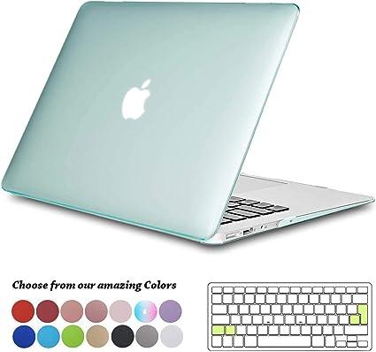 iNeseon H/ülle f/ür MacBook Air 13 A1466 A1369 Tastaturschutz f/ür Apple MacBook Air 13.3 Zoll 2010-2017 ver/öffentlicht Ultra d/ünner Plastik Hartschale Schutzh/ülle Schalen Case Minzgr/ün