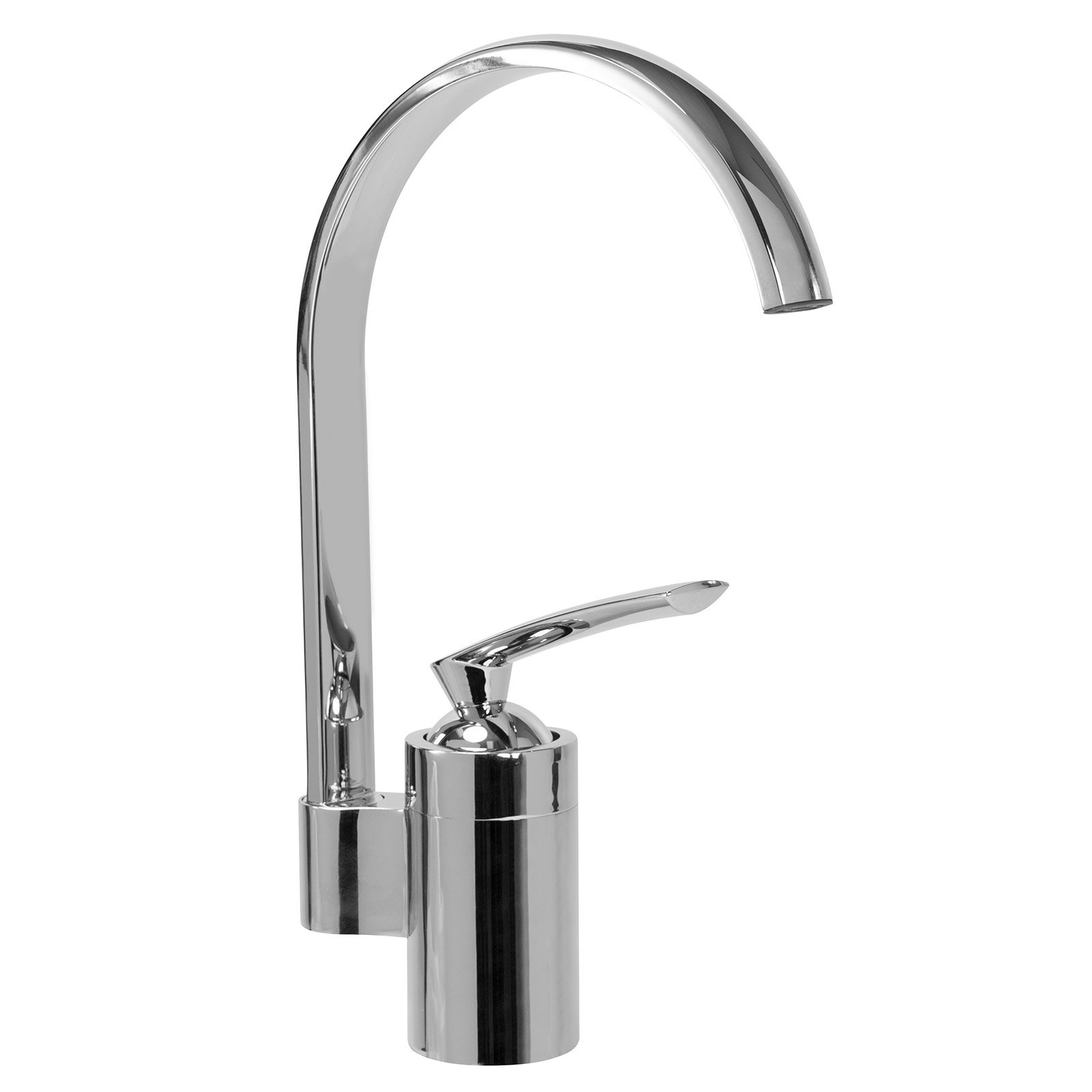 FREUER Rotatorio Collection: Modern Kitchen/Wet Bar Sink Faucet, Chrome