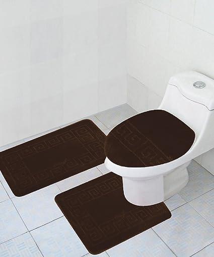 Amazoncom Homemusthaves 3 Piece Bath Rug Set Pattern Bathroom Rug