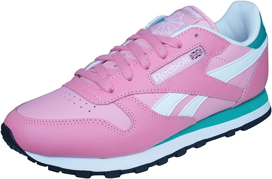 56853c60c9c5f6 Reebok Classic Leather Seasonal II Womens Trainers Shoes-Pink-3 ...
