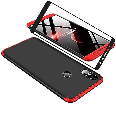 YFXP Xiaomi Redmi S2 Funda - Funda Xiaomi Redmi S2 360 Grados Integral para Ambas Caras + Cristal Templado, Luxury 3 in 1 PC Hard Skin Carcasa Case ...