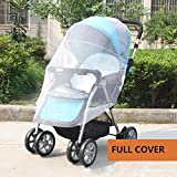 IFfree 2pcs full cover baby mosquito net for Strollers - Carriers - Car Seats - Cradles.Portable Durable Insect Netting-universal 150cm
