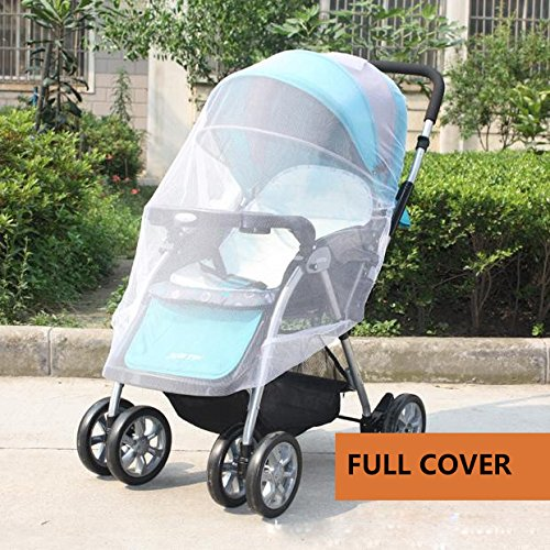 IFfree 2pcs full cover baby mosquito net for Strollers, Carriers, Car Seats, Cradles.Portable Durable Insect Netting-universal 150cm