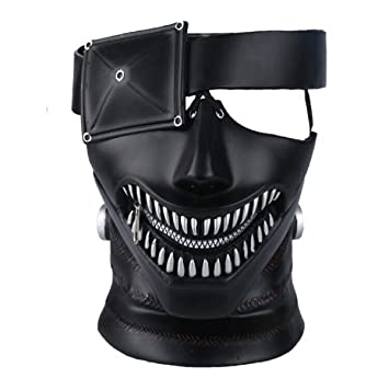 Yacn Tokyo Ghoul Mask, 2017 Movie Kaneki Ken Mask with Adjustable Zipper, 3D Mask