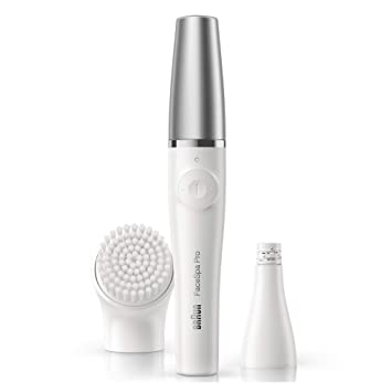 Braun Face Epilator Facespa Pro 910, Facial Hair Removal for Women, 2-in-1 Epilating and Cleansing Brush