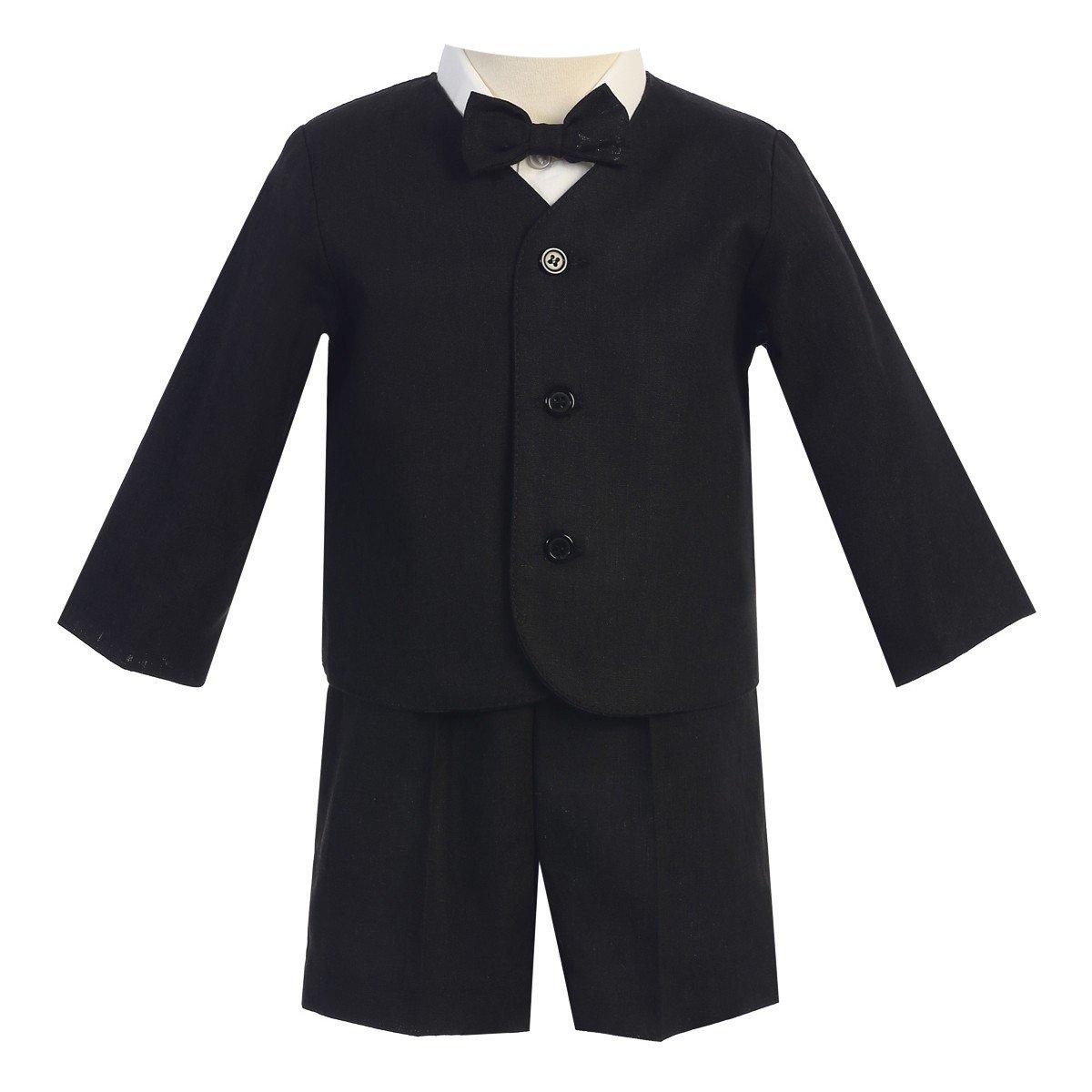 Lito Baby Boys Black Eton Short Formal Ring Bearer Easter Suit 18-24M by Lito