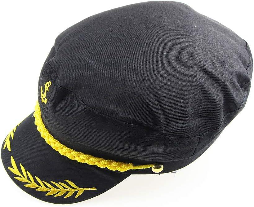 Nero BESTOYARD Cappello da Marinaio Regolabile Cappello da Marinaio Cappello da Marinaio Capitano Navy Cappello Adulto Costume Cosplay