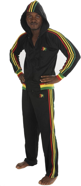 rasta4real Jamaica LEON DE JUDAH Rasta CHANDAL CON CAPUCHA - L ...