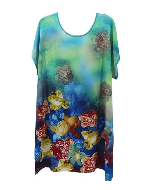 GladiolusA Talla Grande Camisones De Mujer Pintura Tinta Vestido Pijamas Ropa Interior Ropa De Dormir Premamá Camisón: Amazon.es: Ropa y accesorios
