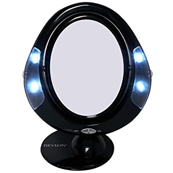Amazon.com : Revlon Lighted Battery-Operated Make-Up Mirror : Personal Makeup Mirrors : Beauty