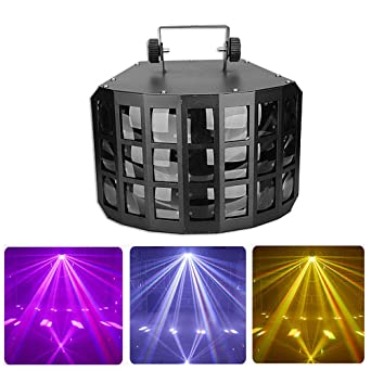 Luces del escenario LED PAR luz 4 en 1 LED 12W DMX Control de ...