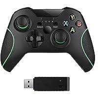 xuelili Controles sem fio para Xbox One, gamepad sem fio para PC com adaptador sem fio de 2,4 GHz, compatível com Xbox…