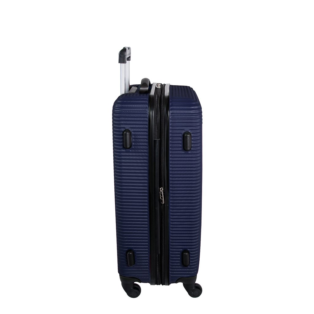 Hardside Expandable Spinner Luggage 28-Inch Atlantic Tribute II Large Checked Luggage Silver