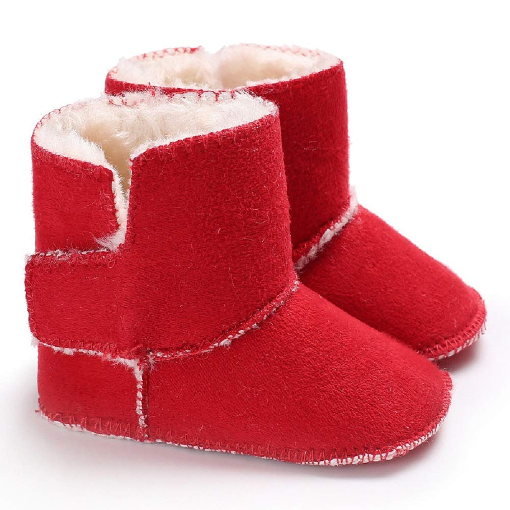 Fnnetiana Toddler Snow Shoes Autumn Winter Warm Infant Newborn Snow Boots Crib Shoes Prewalker Unisex Boy Girl