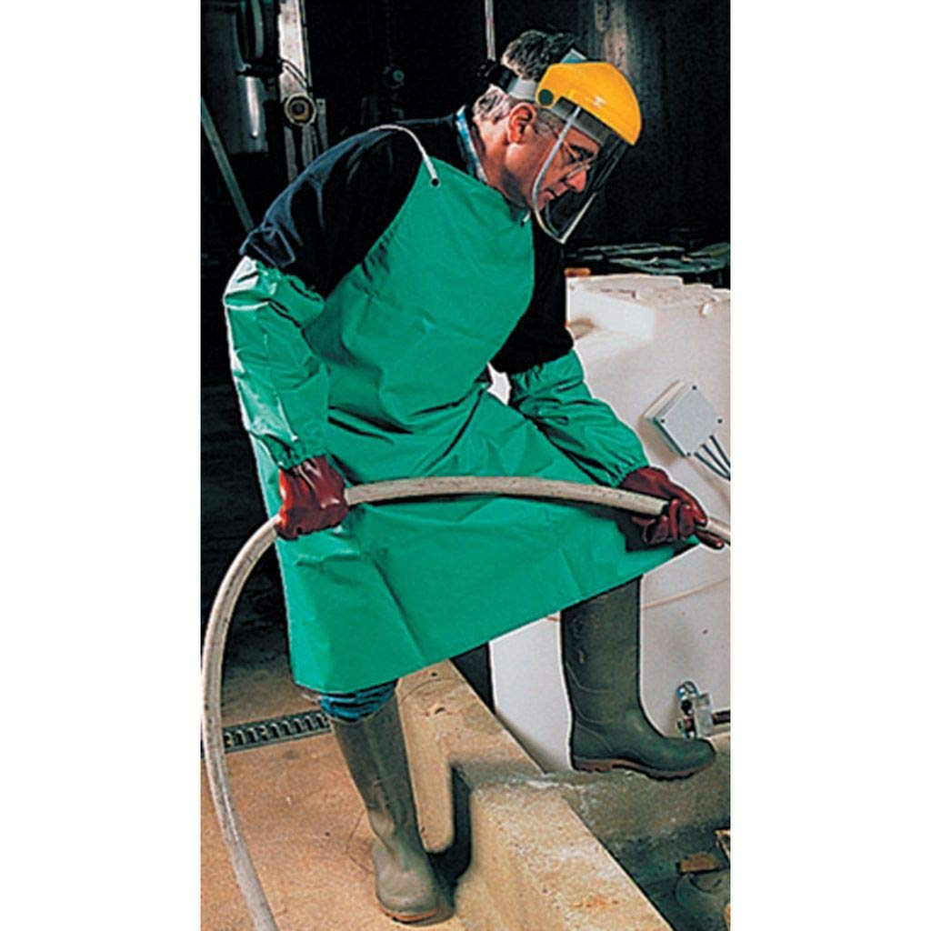 Heavy Duty PVC / Nylon Water Proof Apron - Green 48 Inch PRT