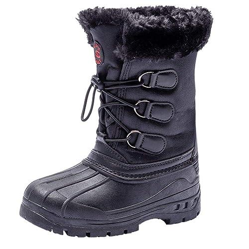wholesale dealer f6ba8 c431a UBFEN Schneestiefel Unisex Kinder Winter Warm Gefütterte Stiefel  Trittsichere Outdoor Schuhe Wandern Trekking Sportlich Jungen Mädchen