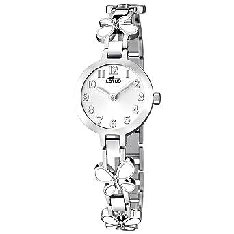 Lotus Reloj Analógico para Niñas de Cuarzo con Correa en Acero Inoxidable 15829/1: LOTUS: Amazon.es: Relojes