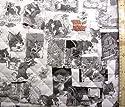 <Qキャラクター・キルティング生地>トムとジェリー(モノクロ)#5(キルティング キルト キャラクター キルティング生地 布 入園 入学 ピロル)の商品画像