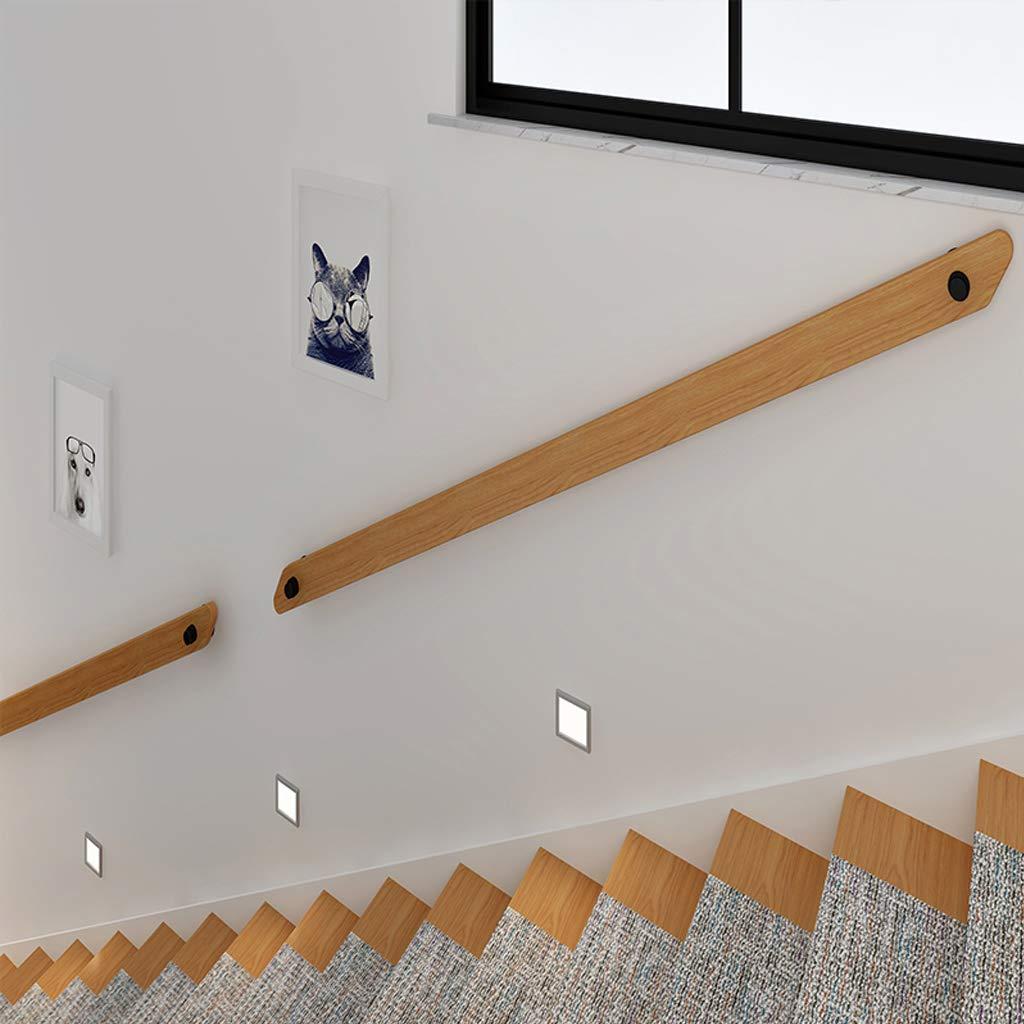 Modern Holz treppenhandlauf mit schmiedeeisernen Konsolen Treppengel/änder f/ür innen au/ßen Korridor Attic Wall Alter Mann Sicherheit Wandhandlauf Eingangsgel/änder Treppen Handl/äufe