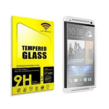 8b6c7d794fc ACTECOM® CRISTAL TEMPLADO PROTECTOR PARA HTC ONE M7 0.2mm: Amazon.es:  Electrónica
