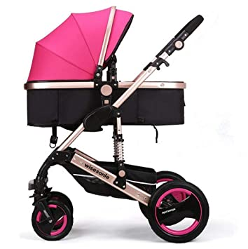CCQQ sillas de Paseo Ligeras carritos de Bebe Plegable Carro Bebe de ...